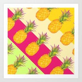 Tropical Pineapples Art Print