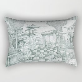 Don't Worry Be Happy 3 (Who Forgets The Past Is Condemned To Repeat It) Rectangular Pillow