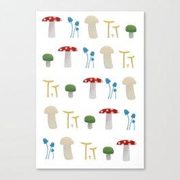 Mushroom Pattern Canvas Print