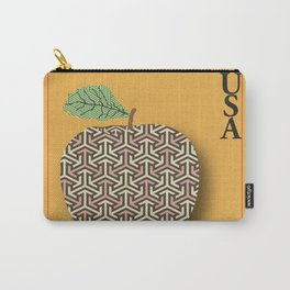 Patterned Apple Carry-All Pouch