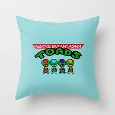 Teenage Mutant Ninja Toads Throw Pillow
