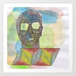 He is full of colour Art Print