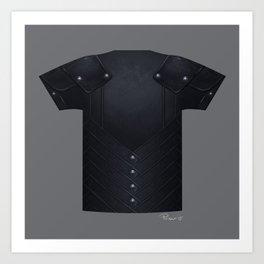 Armor Series: Stealth Leather Shirt Art Print