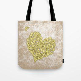 Romantic butterfly swarm on peach texture Tote Bag