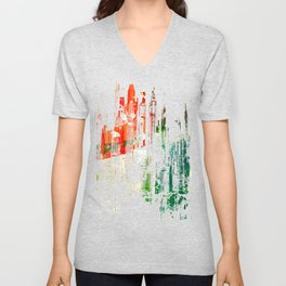 City Aflame and Drowning Unisex V-Neck