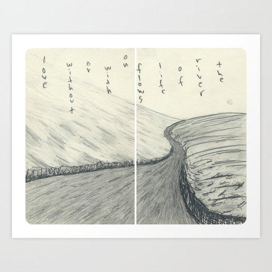 The River of Life (round corners) Art Print