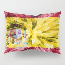 Extruded Flag of Spain Pillow Sham