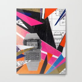 80's Calculator Watch Metal Print