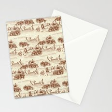 Toile de jouy Swan Stationery Cards
