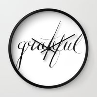grateful dead Wall Clocks featuring Grateful by Creative Mess In A Corporate Dress