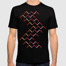 Mountains MEDIUM Mens Fitted Tee Black