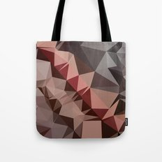 Bulgarian Rose Brown Abstract Low Polygon Background Tote Bag