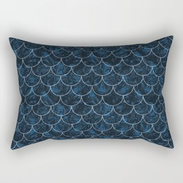 Starry Night Mermaid Scales Rectangular Pillow