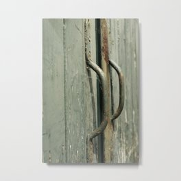 Vintage green old door handles | Color | Street Photography | Fine Art Photo Print Metal Print