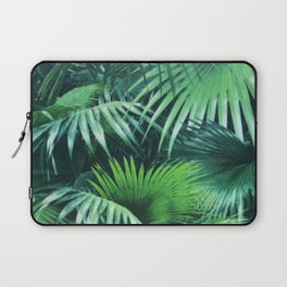 Tropical Botanic Jungle Garden Palm Leaf Green Laptop Sleeve