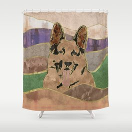 German Shepherd Dog - GSD Shower Curtain
