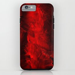 Red Abstract Paint | Corbin Henry Artist iPhone Case