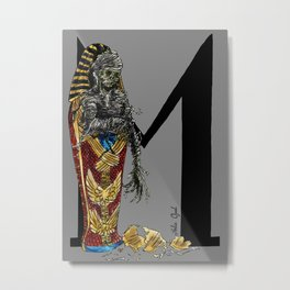 M is for Mummy Metal Print