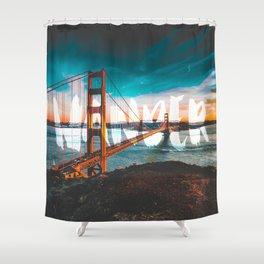 Wander Golden Gate Bridge Shower Curtain