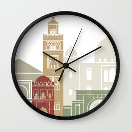 Marrakesh skyline poster Wall Clock