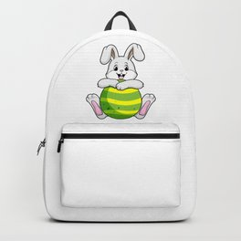 Bunny with long Ears and Egg Backpack