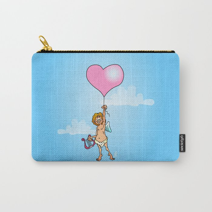 Cupid with harp on Valentine's Day Carry-All Pouch