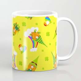 St. Patrick's Day Leprechaun, Rainbows and Shamrock Hearts Coffee Mug