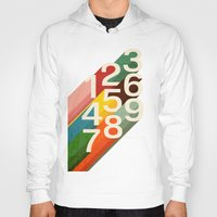 numbers Hoodies featuring Retro Numbers by Picomodi