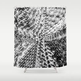 Griswold Christmas Tree - Black And White Shower Curtain