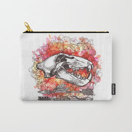 Lion Skull & Flowers Carry-All Pouch