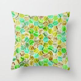 Marble Hive Botanical Throw Pillow