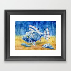 Iron Fish Framed Art Print