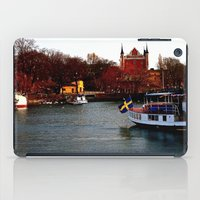 sweden iPad Cases featuring Stockholm, Sweden  by JuliHami