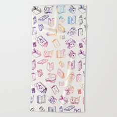 Classic Books - Colorful Pattern Beach Towel