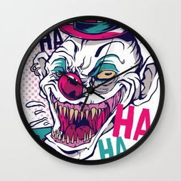 Creppy Clown Wall Clock