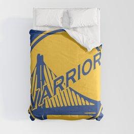 Golden State blue basketball logo Comforters