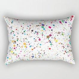 Confetti Paint Splatter Rectangular Pillow