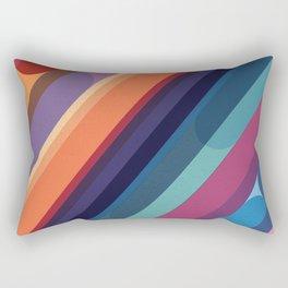 Rainbow Candy Stripes Rectangular Pillow