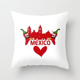 I Love Mexico Throw Pillow