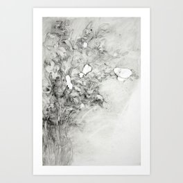 Left vase of iris Art Print