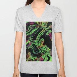Green Tie Dye Unisex V-Neck