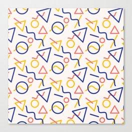 Oh man, I hope you like shapes Canvas Print