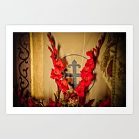 The Flowering Cross Art Print