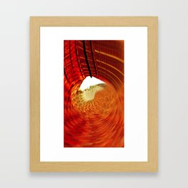 Round red Framed Art Print