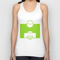 soccer Tank Tops featuring SOCCER by AURA-HYSTERICA