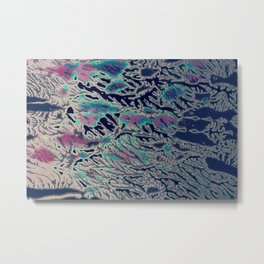 Pink, Blue and White Print Metal Print