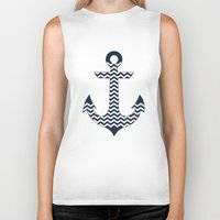 anchor Biker Tanks featuring Anchor by Paula Belle Flores