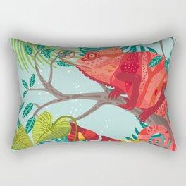 The Red Chameleon  Rectangular Pillow