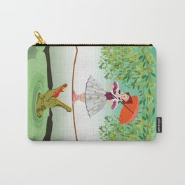 Halloween the girl with the crocodile iPhone 4 4s 5 5s 5c, ipod, ipad, pillow case and tshirt Carry-All Pouch