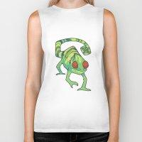 chameleon Biker Tanks featuring Chameleon by Suzanne Annaars